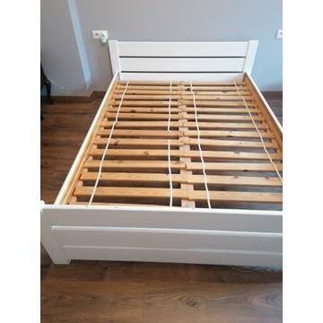 Łóżko drewniane białe 140x200 cm