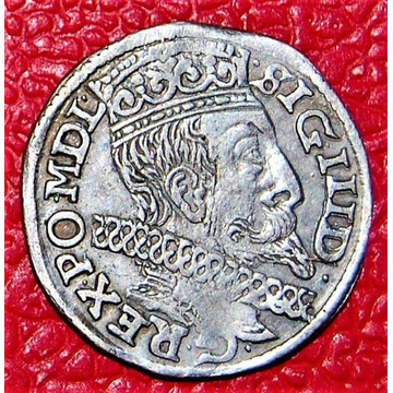Trojak Zygmunt III Waza 1600 srebro Stan dobry