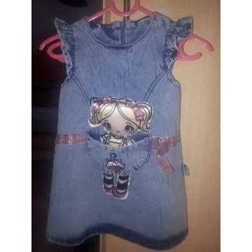 Sukienka z lalą nowa 80/86 cm polecam