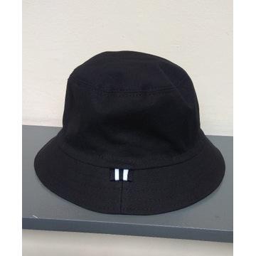 Czarny bucket hat kapelusz czapka