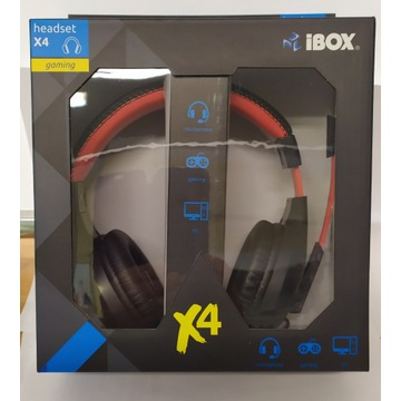SŁUCHAWKI I-BOX X4 BLACK Z MIKROFONEM GAMING
