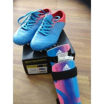 buty piłkarskie, korki i ochraniacze adidas roz.37