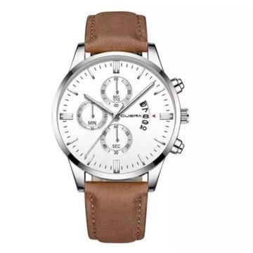 Elegancki, biznesowy zegarek męski + GRATIS