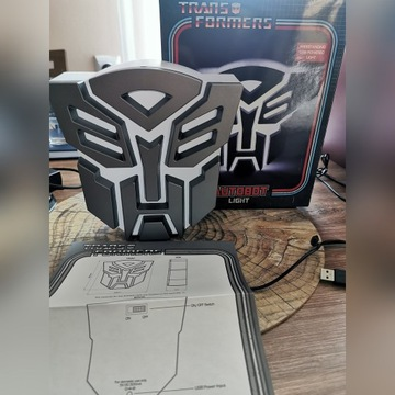 Lampka 3D Transformers Autobor logo