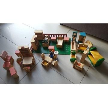 Mebelki drewniane do domu dla lalek