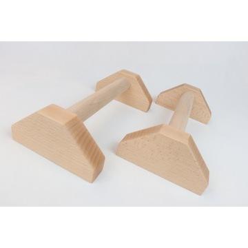 Paraleki drewniane uchwyty do ćwiczeń - 35 cm