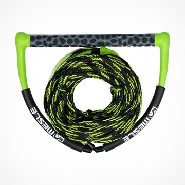zielono/czarna lina  wakeboard
