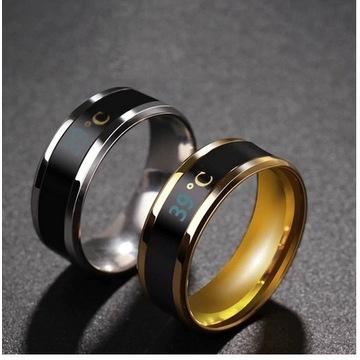 Inteligenty pierścień z mierzący temp. ciała