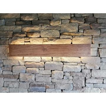 Kinkiet drewniany Dębowy