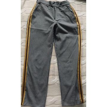 Spodnie czarne z lampasami 7/8, Zara rozm 152