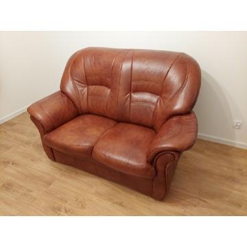 Skórzana sofa dwuosobowa z Dobrodzienia