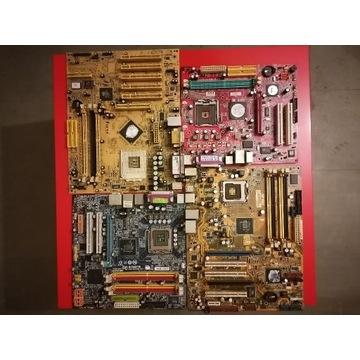 Złom komputerowy, płyty główne, pamięci, procesory