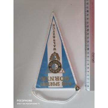 Proporczyk Górnik Wałbrzych + odznaka