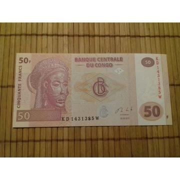 banknot 50 franków D.R.Kongo UNC