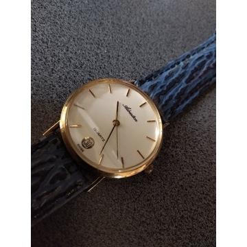 Złoty 18k Adriatica 750pr zegarek Swiss