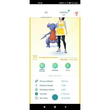 Konto pokemon go 35 lvl / 61 SHINY/55 LEGENDARY/
