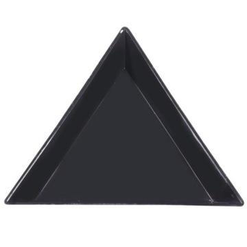 Trójkątna tacka na ozdoby – Czarna