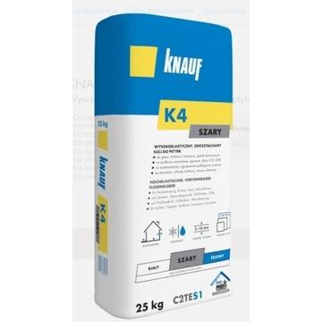 KNAUF K4 Wysokoelastycz. klej do płytek Szary 25KG
