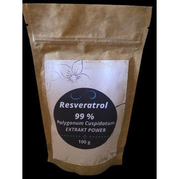 Resweratrol Resveratrol 99% Czysty Ekstrakt 100g