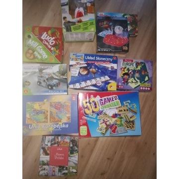Zestaw gry planszowe&zabawki&puzzle 10szt