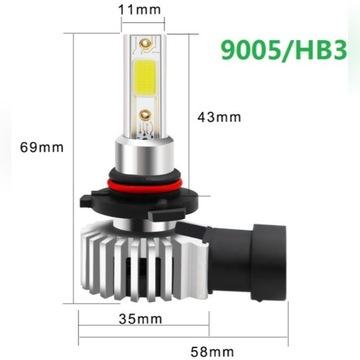 Żarówka LED HB3 6000K mijania przeciwmgielne