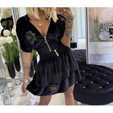 Welurowy komplet spódnica + bluza lola Bianka