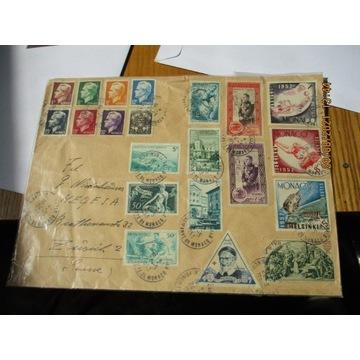 koperta MONACO 1953 znaczki x21