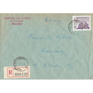 Mordy - Koperty listów poleconych 1960-80