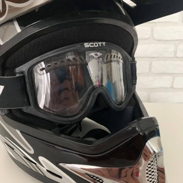 Kask NITRO MX410 XL + Scott gogle