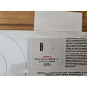 Nowy36GW Apple Watch 6 GPS+Celular 40mm stal srebr