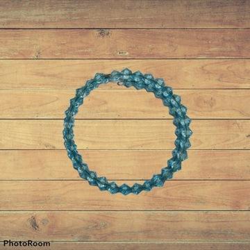 Niebieska bransoletka handmade