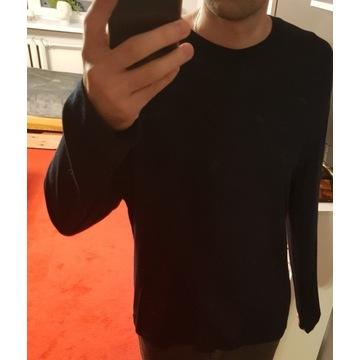 Granatowy longsleeve sweter męski Zara rozmiar L