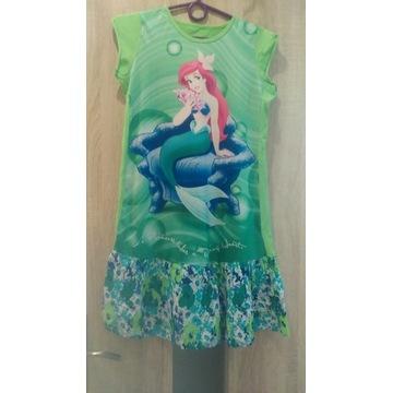 Zwiewna sukienka ARIELKA, zielona 135-156cm.ITALIA