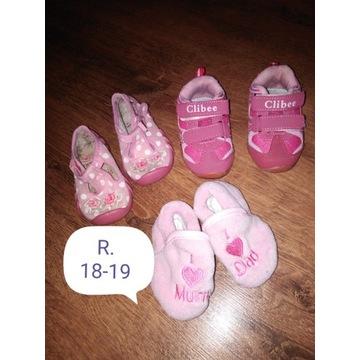 Buciki buty Niechodki dla dziewczynki w rozm 18-19