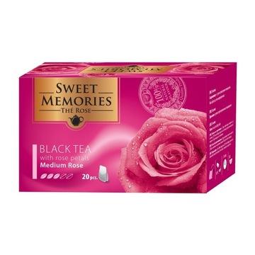 Czarna herbata z płatkami róży - średnia róża 30G