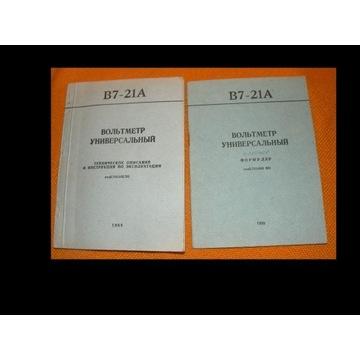 Instrukcja Woltomierz uniwersalny B7-21A rosyjski