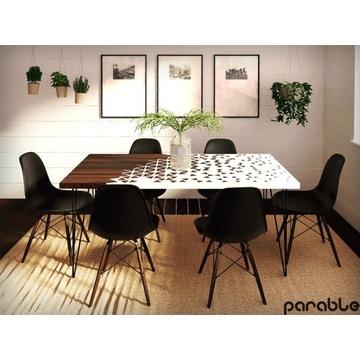 Stół jadalny nowoczesny, żywica epoksydowa