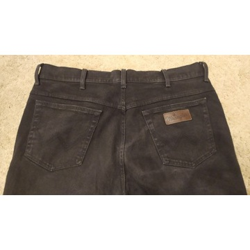 Spodnie męskie czarne Wrangler W38L32