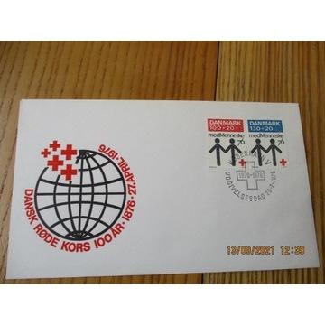 koperta DANIA red cross CZERWONY KRZYŻ FDC 1976