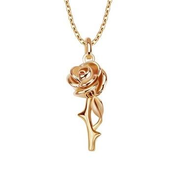 YES Rosarium - naszyjnik srebrny pokryty złotem