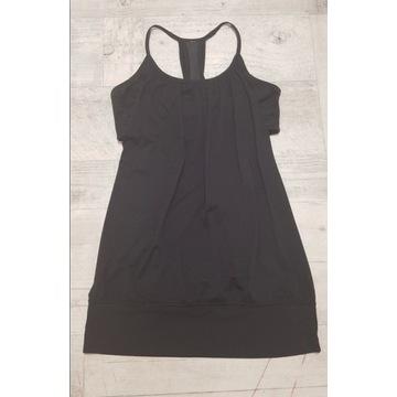 Koszulka sport z biustonoszem czarna S/M