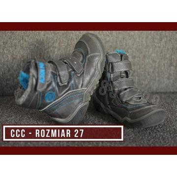 Buty - Rozmar 27 - CCC - Trzewiki, kozaki - ciepłe