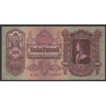 Węgry 100 pengo 1930 - E814