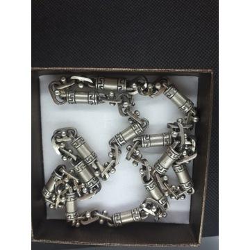 Oryginalny srebrny łańcuszek, splot grecki 57,8 g