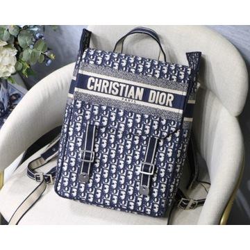 Christian Dior Blue Dior Oblique Embroidery