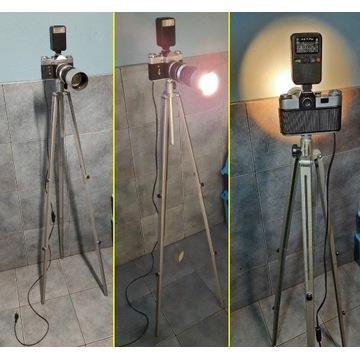 Lampka lampa led z aparatu Zenit prezent, retro