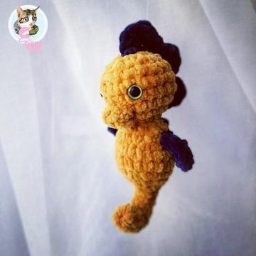 Konik morski maskotka prezent handmade