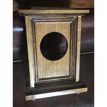 Drewniana obudowa do zegara, brak zawiasów