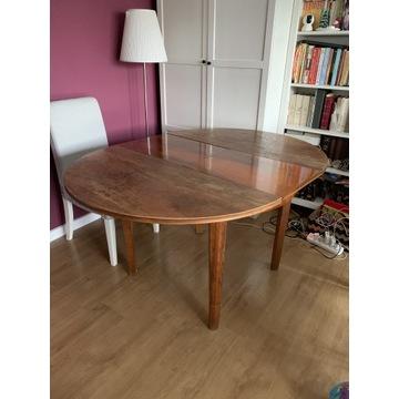 Stół okrągły rozkładany i 4 krzesła