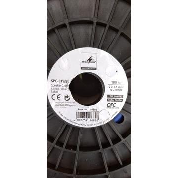 Kabel głośnikowy Monacor SPC-515/BL 100 m